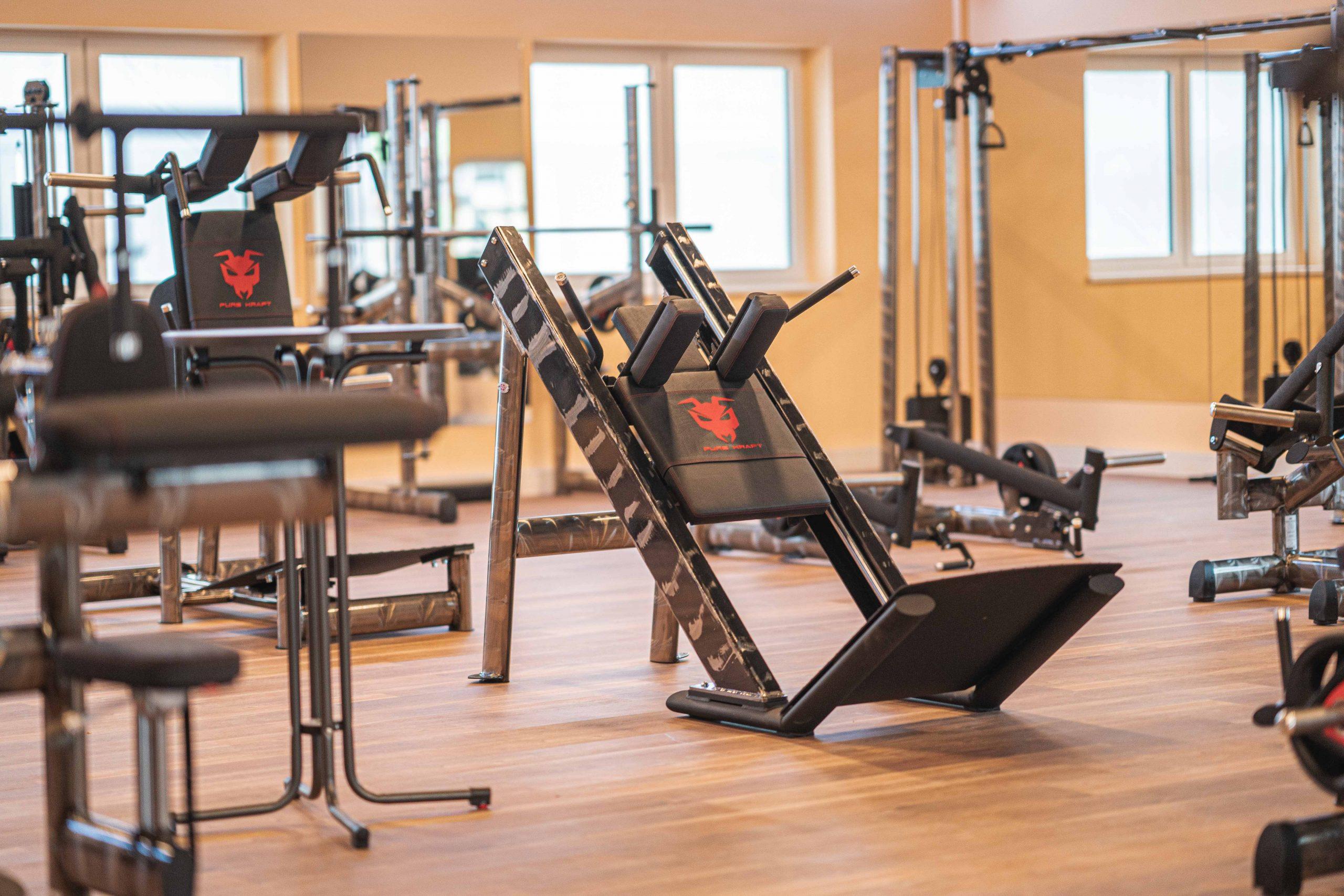 Free Weight-Bereich von Gym80